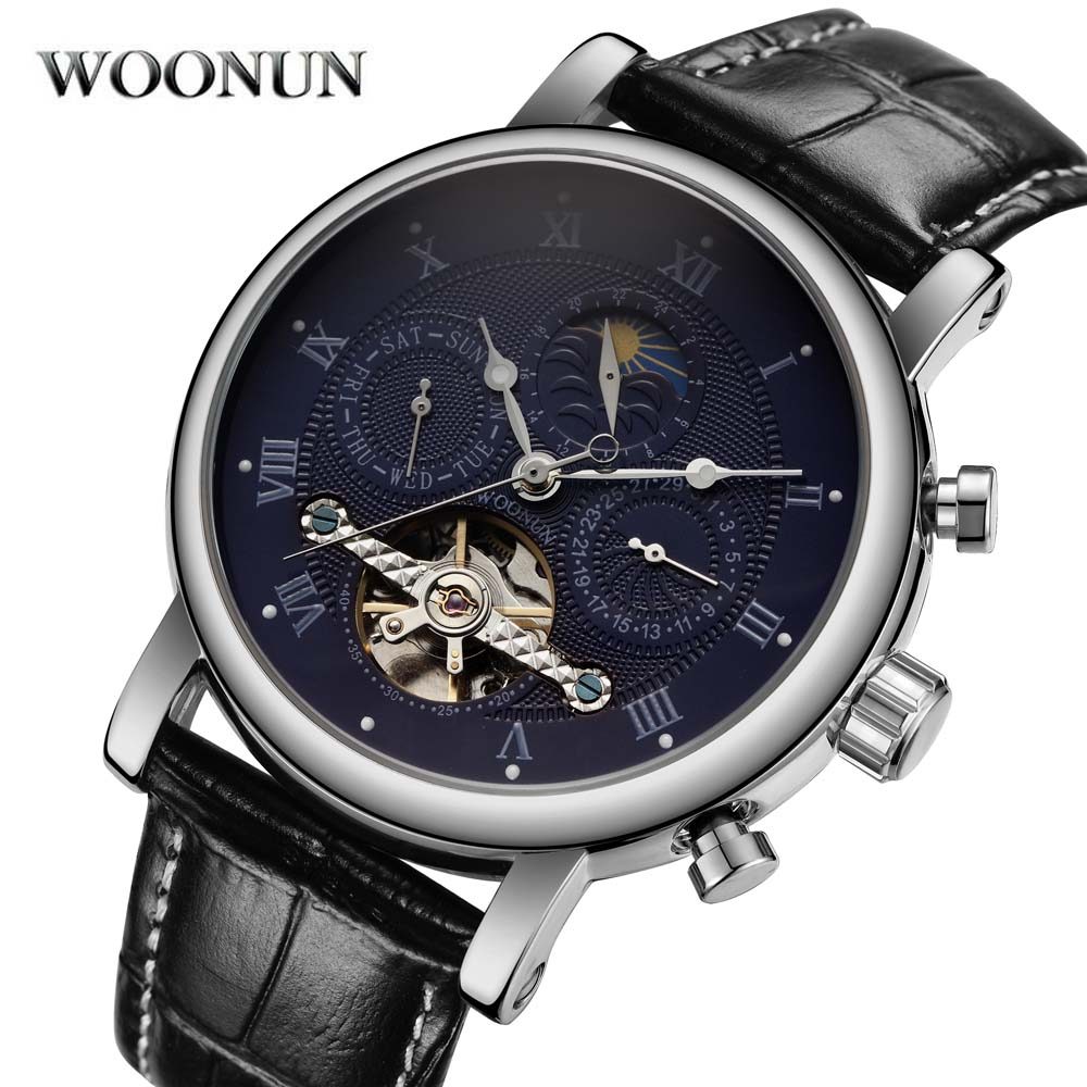 Men Tourbillon Watches Automatic Self-Wind Mechanical Horloge Man Horloges Mannen Reloj De Hombre