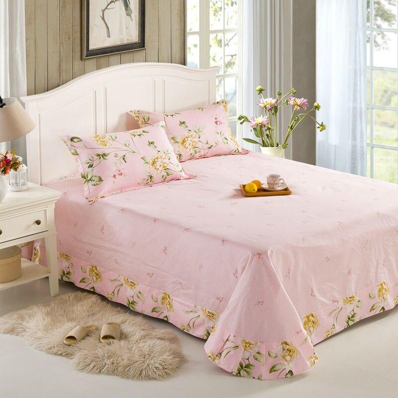 barato hoja de cama plana para adultos nios sbana impresin de sarga de algodn