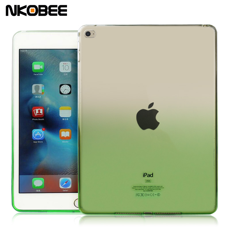 NKOBEE For iPad mini 4 mini4 Tablet Case For iPad Pro 9.7 Case Transparent Silicon Soft TPU Cover For ipad Tablet Accessories
