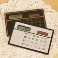 Горячая ультратонкий Мини-Карты Солнечной Энергии Калькулятор Мода Портативный Солнечной Энергии Карманный Калькулятор Для Офиса Студент