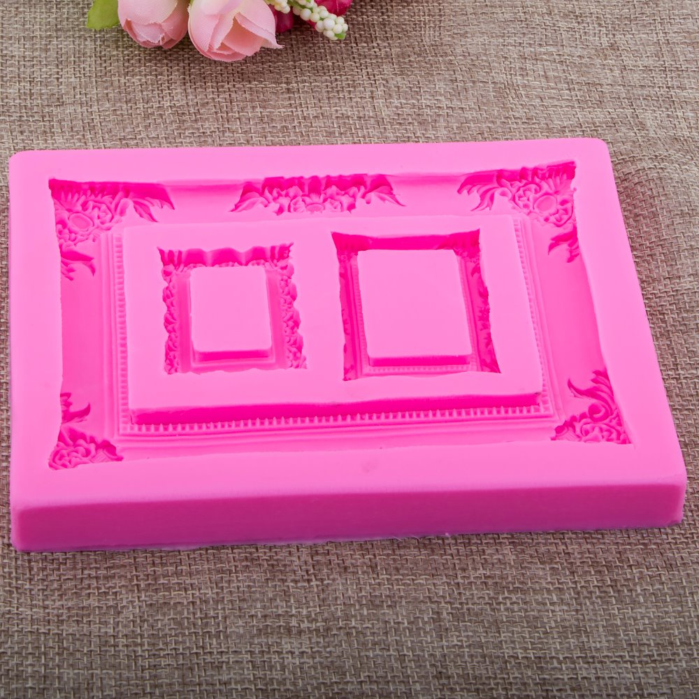 Photo frame Shape Fondant cake silicone mould Kitchen for pastry candy Gum paste Chocolate Trim molding removal tool set FT-0950