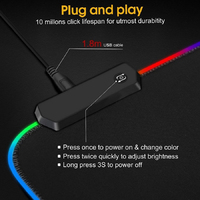 pc עם RGB משטח העכבר משחקים גדולים משטח העכבר גיימר XXL מחשב שטיחי עכבר לד ביג עכבר מאט מקלדת שולחן כתיבה PC Mause Pad עם תאורה אחורית (5)