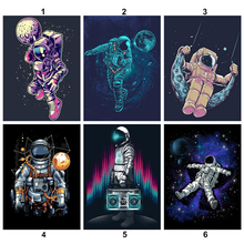 Full Square/Round Diamond Painting DIY Diamond Embroidery Astronaut Cross stitch Rhinestone Mosaic Decor diy diamond painting full embroidery mosaic daisy butterfly square round picture of rhinestone cross stitch decor home sticker