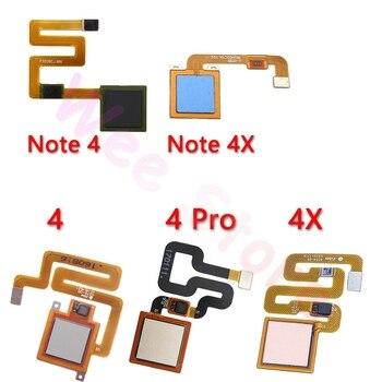 Original Back Home Button Fingerprint Sensor Flex Cable For Xiaomi Redmi Note 4 4x Global Pro Home Flex Phone Parts недорого