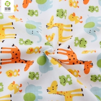 Autumn Winter Printed Giraffe Cotton Knitted Fabrics Cotton Baby Fabric For Baby Cloth Bibs Hats Shoes