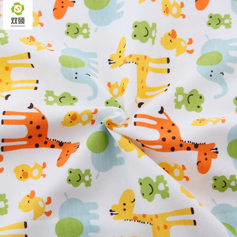 Autumn winter printed giraffe cotton knitted fabrics for Cheap baby fabric