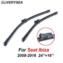 SLIVERYSEA Wipers Blade For Seat Ibiza 2008-Present 24+16 Car Accessories For Auto Rubber Windscreen Windshield Wiper CPC104-5