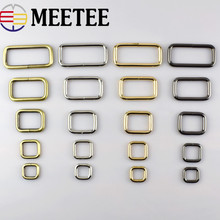 5pcs Rectangle Metal D Ring Webbing Belt Ribbon Buckles Shoes bag Clips Strap Adjuster for accessories