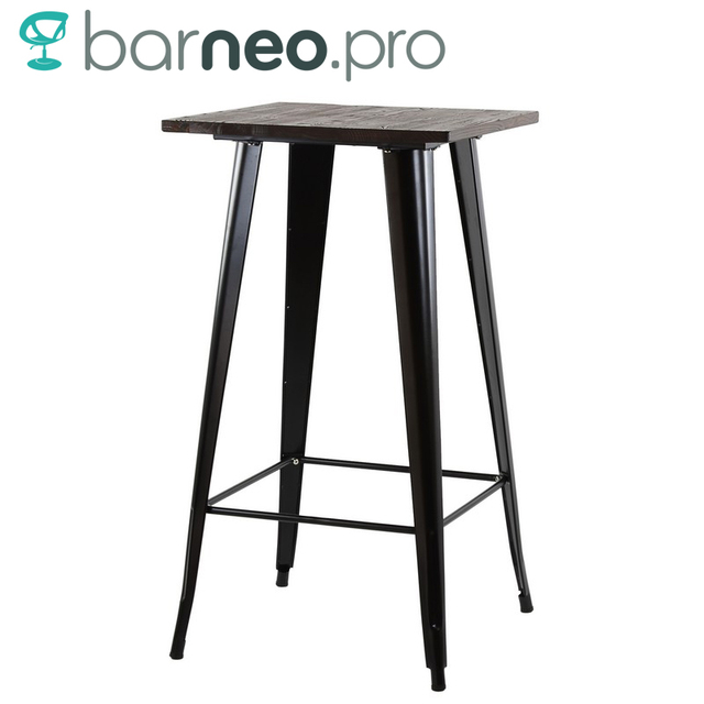 95257 Barneo T 4 Metal Wood High Breakfast Interior Table Bar Table Kitchen  Furniture Dining