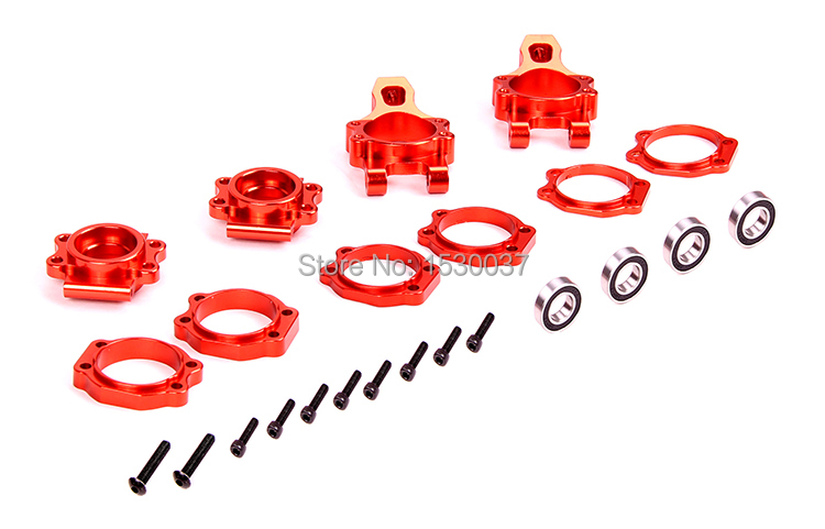 1 5 RC Car Racing parts CNC Alloy Rear wheel axle hub TS 85082 silver orange