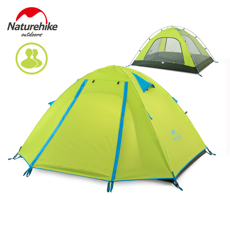 NatureHike 200*130*110CM Double Layers Tent Camping 2 Person Outdoor Camping Hike Small Canopy Tents have many colors for choose esspero canopy