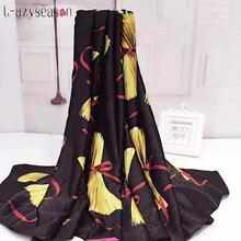 New Autumn Winter Women Scarf print bufandas soft thin warm black Scarves luxury brand shawl wraps 2018 shemagh hijabs 90X180CM