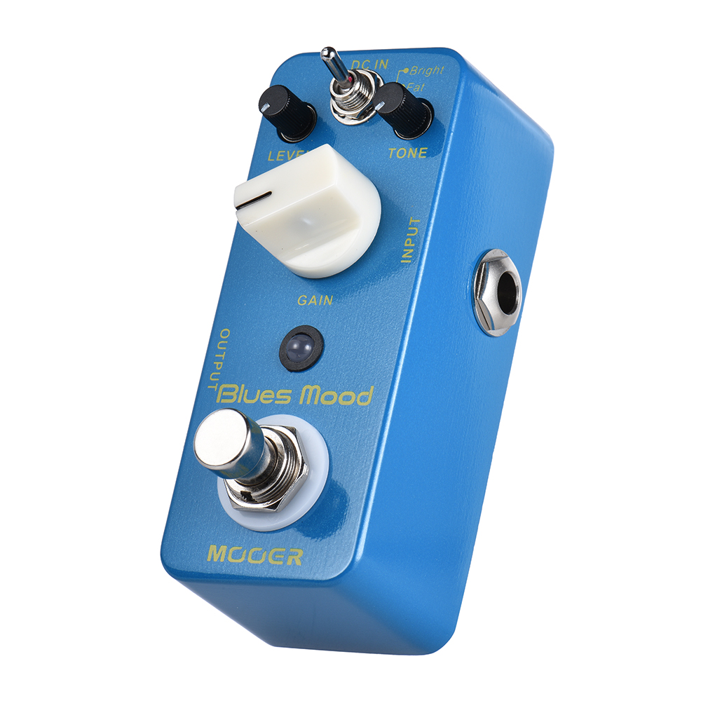 MOOER Blue Mood Blues Style Overdrive Guitar Effect Pedal with Bright Fat True Bypass Full Metal