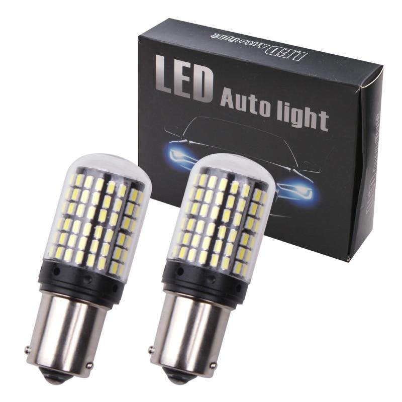 RXZ 1pc CanBus p21w py21w T20 LED W21W W21 5W 7440 led S25 1156 BA15S BAU15S RXZ 1pc CanBus p21w py21w T20 LED W21W W21/5W 7440 led S25 1156 BA15S BAU15S Bulbs 3014 144smd car Turn Signal Lights Brake lamp