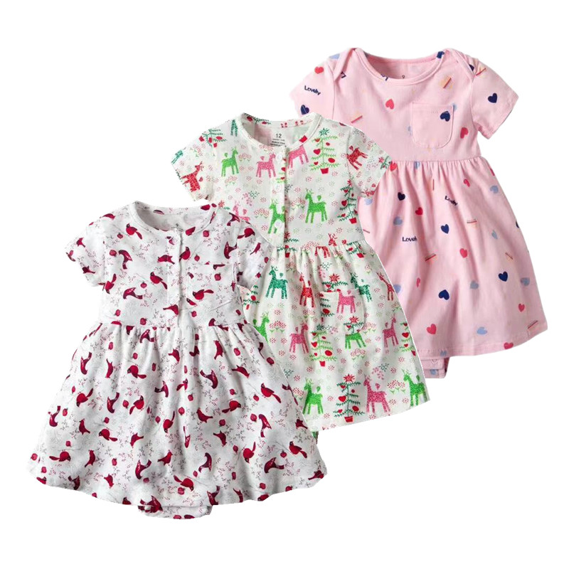 5cfe941265464 2019 summer clothes for girls pink baby clothing nice green baby dress  0-24M cotton infant newborn clothes roupa infantil XHQ