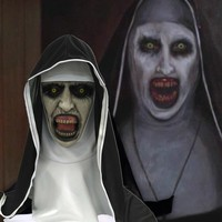 The Nun Horror Mask Halloween Scary Masks Party Cosplay Clown Masque Masquerade Mascara Ghost Terror Maske Latex Helmet Funny