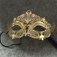 Vintage metalen lasersnijden Phantom Halloween Masker Venetië Carnaval gouden masker maskerade mannen 1 stks koop
