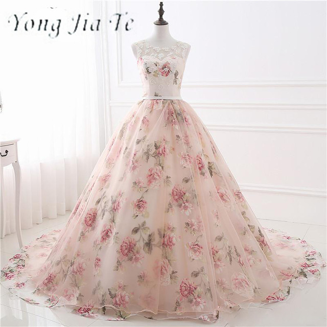 Prom Dresses Women A Line Organza Peach Color Ball Gown Prom Dresses ...