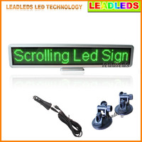 17X 4.3inch 12v Green Car LED display USB input rechargeable LED car sign LED Programmable Message Sign Pixel 16*96