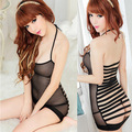 Women's See Through Nighty One Piece Babydoll+G String Hollow Lingerie V Neck