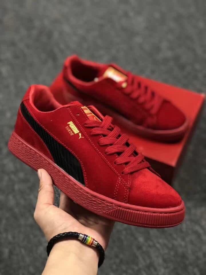 Original Puma Creeper Red Black Logo Men And Women's Casual Hipster Sneakers