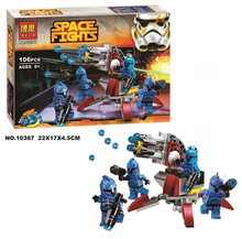 Bela Star Wars Senate Commando Troopers Rapid shooter Building Block Set Commando Captain Minifigures legoe 75088 Compatible