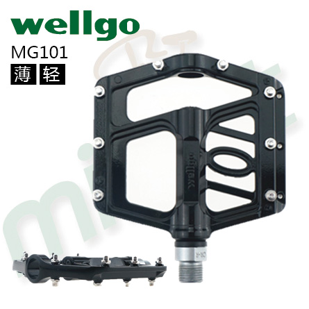 цена на Ultralight 100% Original Wellgo MG-101 Magnesium BMX Bike Cruisers Pedals MTB CNC Cycling Bearing Magnesium bicycle parts Pedal