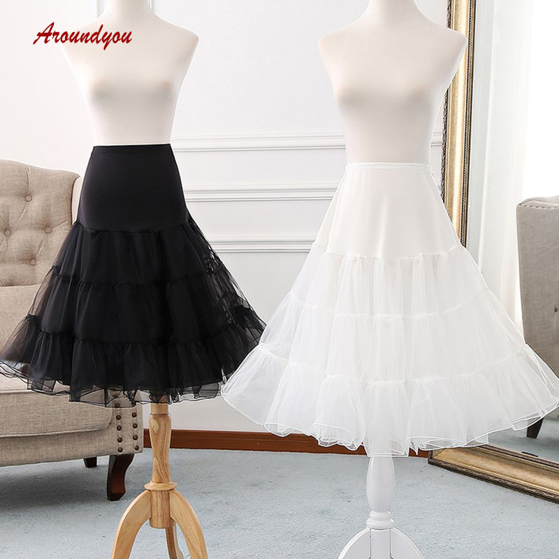White Black Or Red Tutu Lolita Petticoats Short Woman Girl Underskirt Crinoline Petit Coat Peticoat Rockabilly Skirt Pettycoat