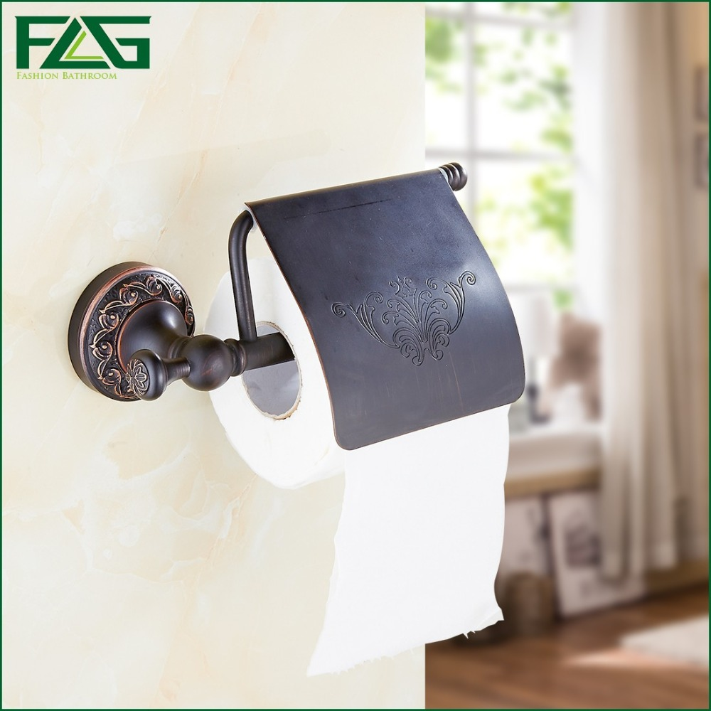 FLG Free Shipping Oil Rubbed Bronze Toilet Paper Holder Roll Holder Tissue Holder Solid Brass Bathroom Accessories Product 91305 oil rubbed bronze toilet paper holder wall mount tissue box