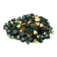 Nail Sticker Rhinestones Emerald Color Mini Pointback Crystal Stones Loose Strass Bead DIY Nail Art Decoration