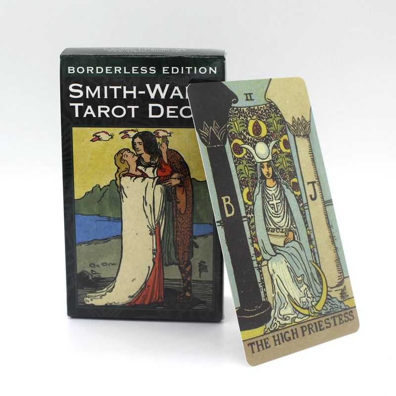 Full English Borderless Edition Smith-Waite Tarot  Cards Game With English Booklet Instructions Smith Waite Tarot Board Game