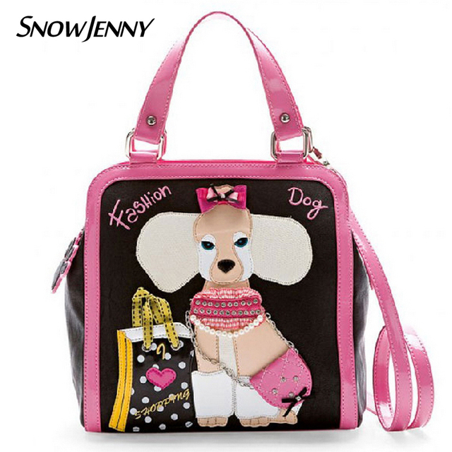 Women Shoulder Bags Female Messenger Bag Handbags Totes Borsa Snowjenny Style Italy Handicraft Braccialini Cartoon Pink