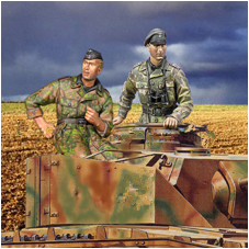 pre order-Resin toys 35032 Waffen SS Panzer Crew Set  2 figures   Free shipping декаль waffen ss uniform insignia part no 2 nordland division