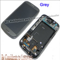 For Samsung  S3 GT-i9305 i9305 LCD Display&Touch Screen+Frame Assembly Original 4.8 Inches White/Blue/Black/Grey 20pcs/lot