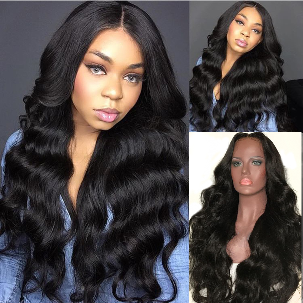 Eversilky Wig Human-Hair-Wigs Virgin-Hair Body-Wave Full-Lace Long Brazilian with