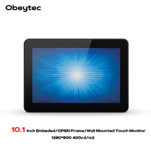 Obeytec 10.1 Open Frame Projected Capacitive Touch monitors, 5 touch points, 3 mm anti-vandal touch panel, 1280*800 obeytec 43 inches 2 touch points touch frame without glass ir touch screen panel ture 2 touch points