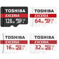 TOSHIBA Micro SD Card 32GB Class 10 16GB/64GB/128GB UHS-1 U3 90MB/S 4K Memory Card Flash Memory Microsd for Smartphone + Adapter