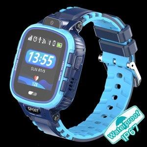 Image 2 - GPS montre intelligente enfants caméra IP67 étanche Wifi Tracker téléphone Smartwatch enfants SOS moniteur positionnement montre 500mAh batterie