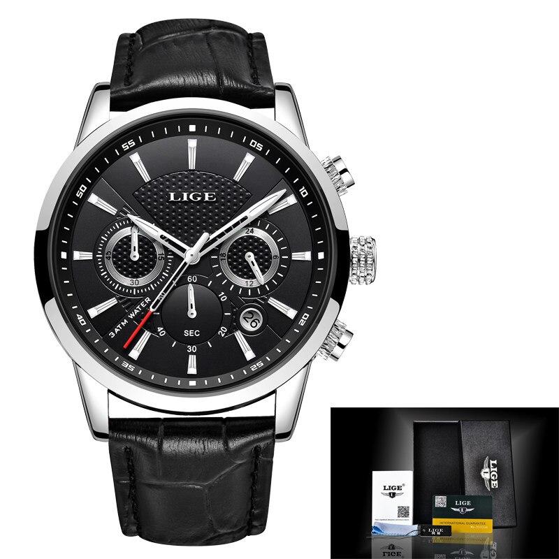 Silver black L