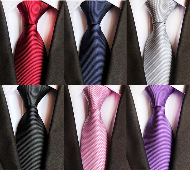 High Quality Casual Tie For Man Solid Color Ties  Silk Men's  Necktie For Wedding Party