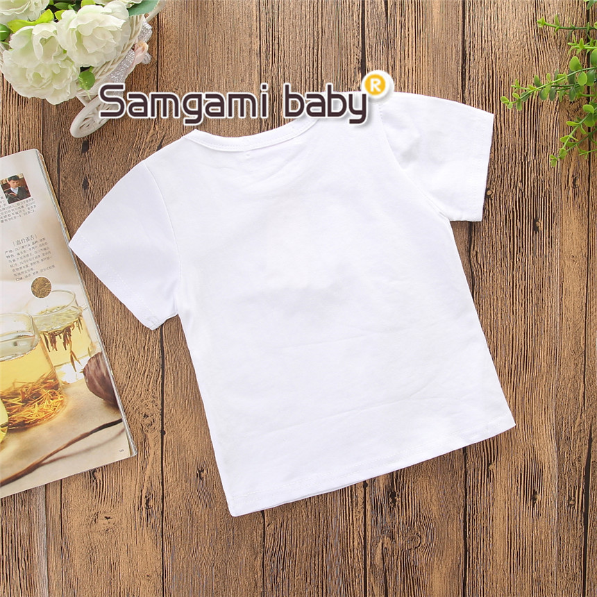 b63e51149af6 SAMGAMI BABY Newborn Infant Girl T Shirt Summer Top Short Sleeve Cotton  Printing T-shirt Toddler Girls Clothes Kids Clothing