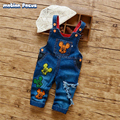 2017 New Arrival Baby Boys Girls Bib Pants Spring&Autumn Cartoon Denim Overalls Cowboy Straps Trousers Children Brand Jeans Pant