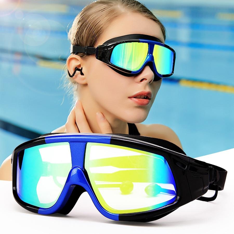 Occhiali Da Nuoto professionali Adulti Uomini Donne Impermeabile Placca di Nuotata Occhiali UV Anti-Nebbia di Acqua di Sport Occhiali Per PiscinaOcchiali Da Nuoto professionali Adulti Uomini Donne Impermeabile Placca di Nuotata Occhiali UV Anti-Nebbia di Acqua di Sport Occhiali Per Piscina