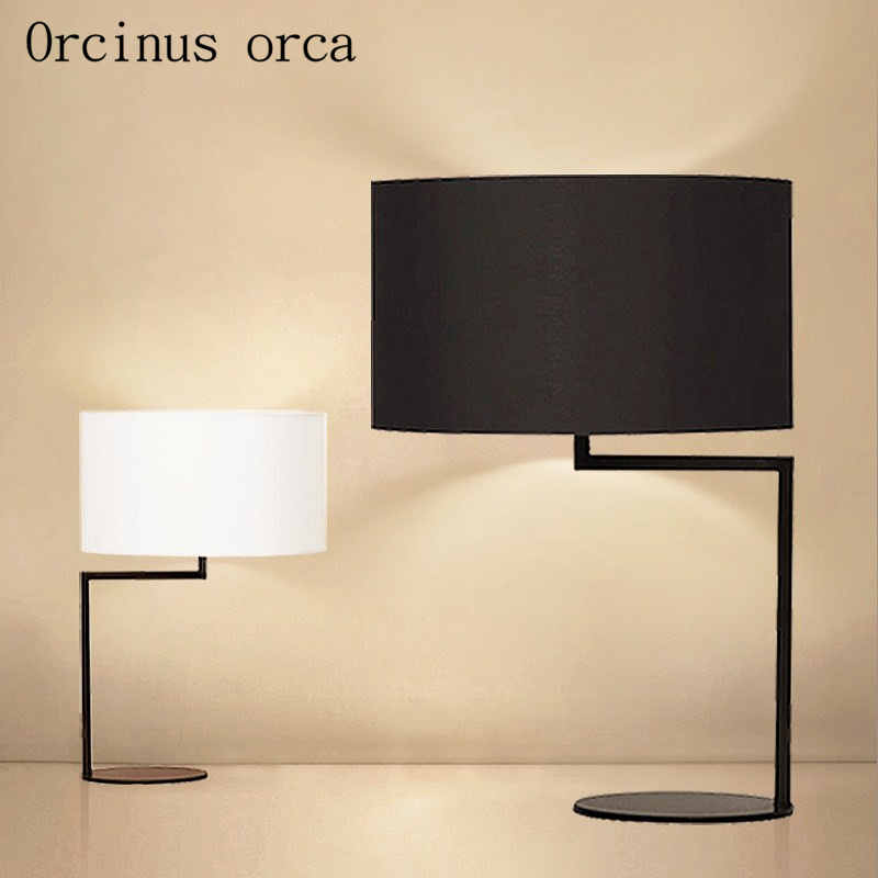 Modern minimalist bedroom lamp bedside lamp lights Nordic creative study lamp free shipping ...