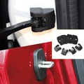Car 4Pcs Car Door Striker Lock Cover + 4Pcs Check Arm Stopper Protection Cover For Citroen C4 DS Peugeot 308 408 508 2012 2013