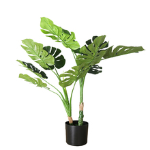 nordic artificial plants with pot palm tree fake bonsai trees monstera leaf tropical leaves plastic