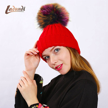 Branded Beanies for Women hat Girl casquette homme Colorful pom poms Hat Female Woolen knitted hat gorro feminino toca gorros