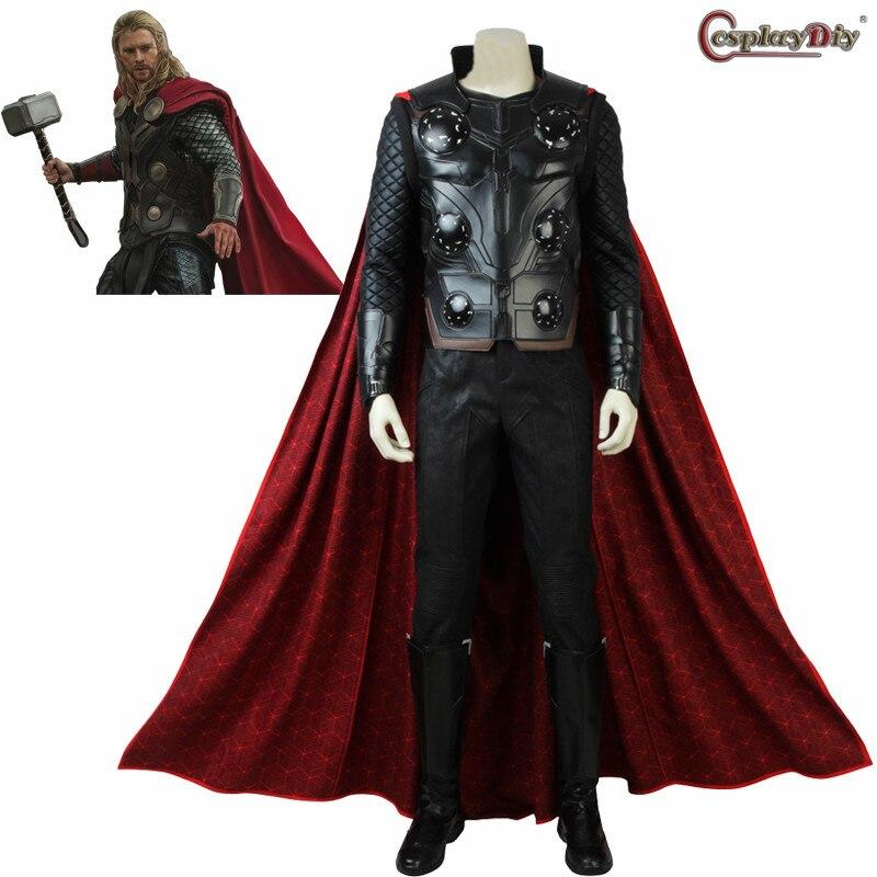 Cosplaydiy The Avengers Infinity War Thor Cosplay Superhero Adult Men Fancy Dress Halloween Carnival Party Costume Custom Made