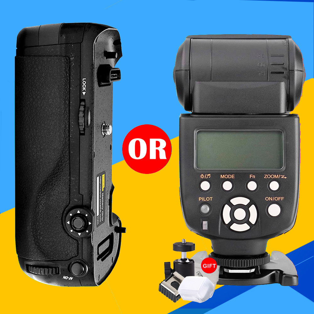 Yongnuo YN-565Ex N  Flash Speedlite yn565ex n  i-TTL Light For Nikon DSLR Camera or Pixel Vertax D17 Battery Grip for Nikon D500