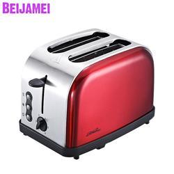 Beijamei toster elektryczny gospodarstwo domowe automatyczne pieczenie chleba ekspres urządzenie śniadaniowe toast sandwich grill piekarnik 2 kromka